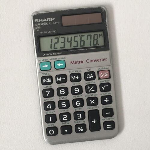 Sharp EL-344G Metric Converter Calculator