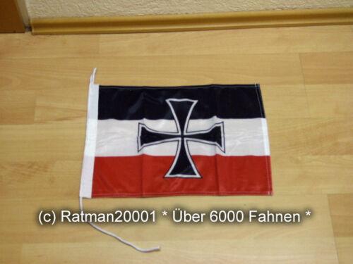 30x45cm Fahnen Flagge Deutsches Reich Gösch der Schiffe Bootsfahne Tischwimpel