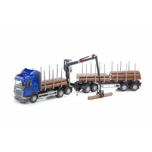 EMEK Scania Highline legno Camion e cabina gru (blu) (a7V)