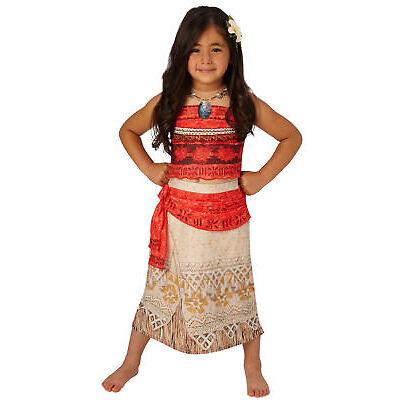 Rubie's Disney Princess, Moana Deluxe Girls Fancy Dress Book Week Costume