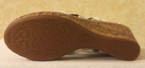 B. O. C. Born Wynda wedge sandals sandals sandals leather white sz 10 Med NEW c4bfe9