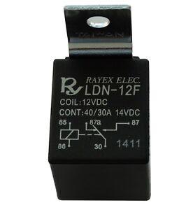 Relai-SPDT-12V-30A-40A-5-pin-broches-electromagnetique-pour-auto-voiture