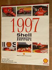 Calendrier FERRARI SHELL 1997 calendar poster affiche brochure prospekt car