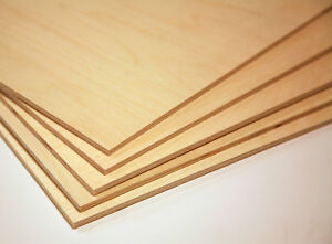 Baltic Birch Plywood 1 4 6mm By Approx 12 X 24 12 Pieces Ebay