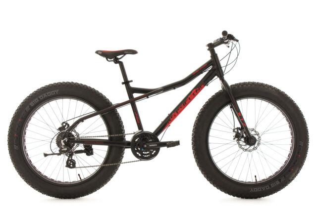 Vtt Aluminium 24 Vitesses 26'' Fatbike Snw2458 Noir TC 46 cm KS Cycling 380M