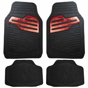 Heavy-Duty-Rubber-Floor-Mats-Set-with-Red-for-Land-Rover-Discovery-Freelander