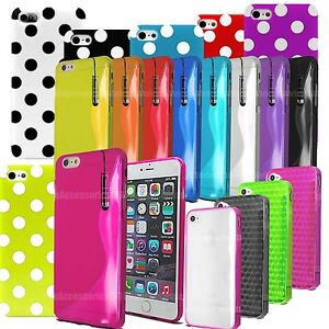 S-Line-Gel-Silicone-Polka-Case-Cover-For-Apple-Iphone-4-4S-5-SE-6-6S-6-Plus