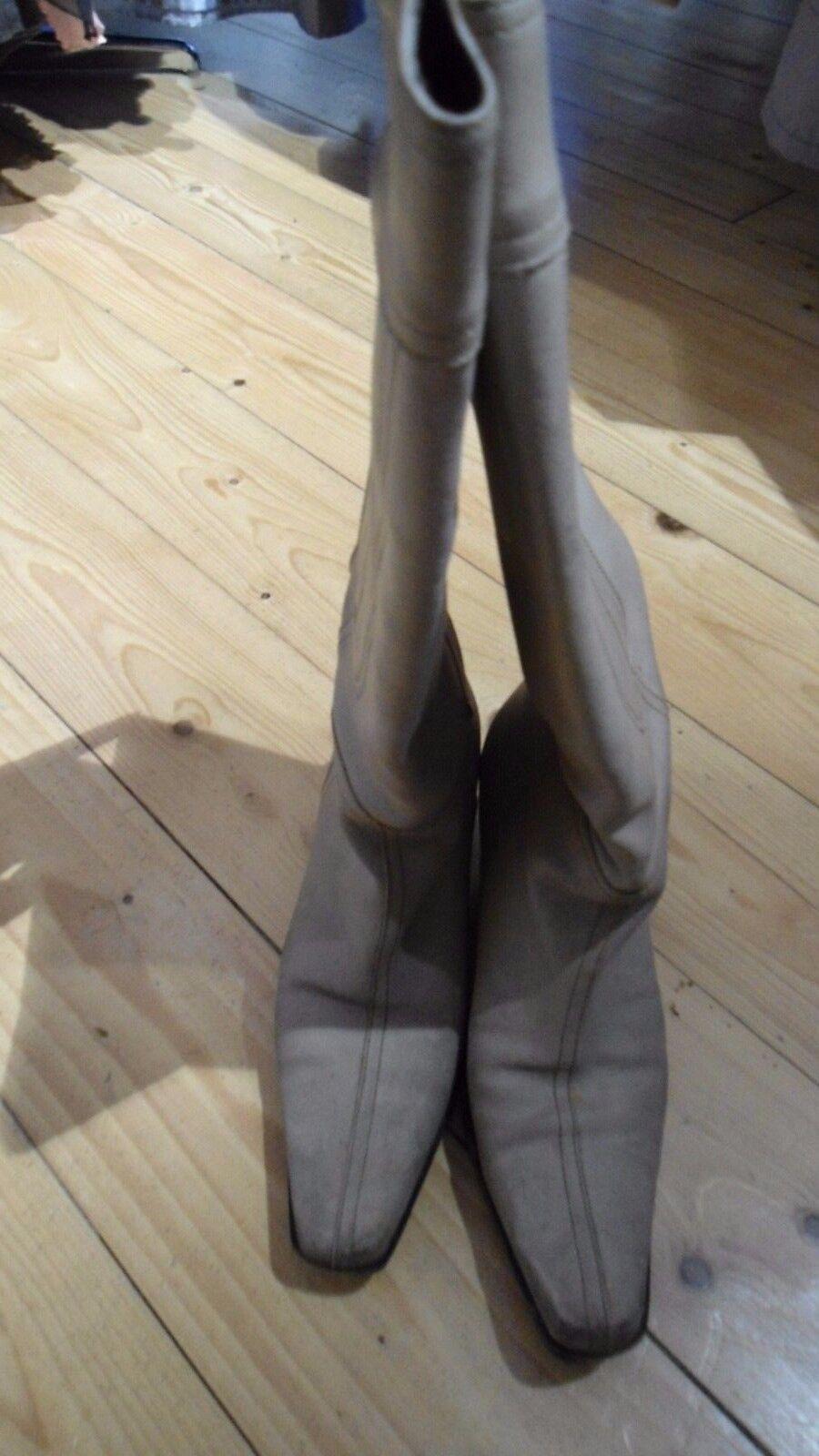 ORIGINALE Lusso Designer Stivali miu miu in pelle pelle in tg. 36,5 ea0d76