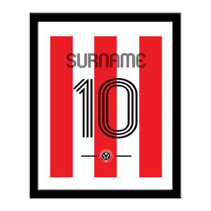 Sheffield United F.c - Personnalisé Imprimé (chemise Rétro)-afficher Le Titre D'origine Vif Et Grand Dans Le Style