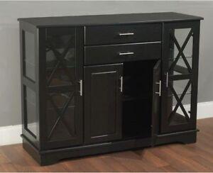Image Is Loading Black Buffet Storage Cabinet Furniture Sideboard Vintage Server