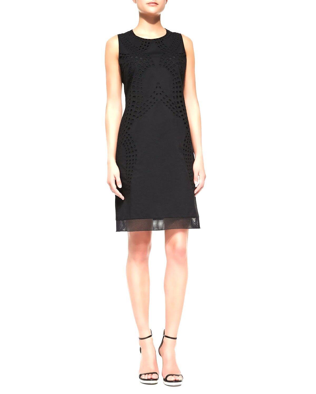 Tahari Negro & 039;Fran& 039; Vestido De Cambio De Corte  Láser Sz.4 Nuevo Con Etiquetas  148.00 Wow   promocionales de incentivo
