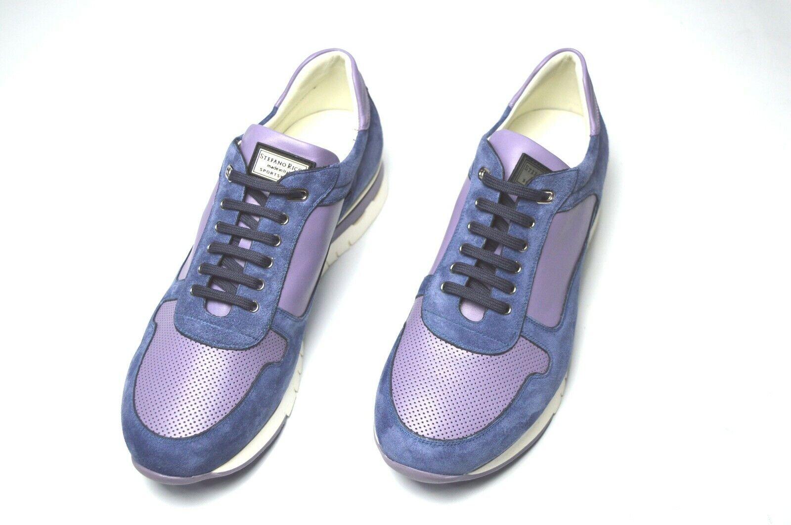 Nuevo De Lujo Cuero STEFANO RICCI Zapatos Talla nos 8 (COD A346)