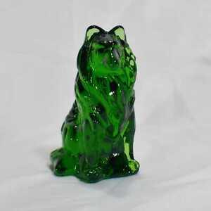 Mosser-Glass-Collie-dog-figurine-Hunter-Green-collectible