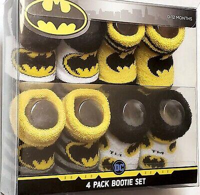 DC Comics 2-Pack Batman Infant Booties Socks White//Blue 0-12 Mths OSFM BNIB