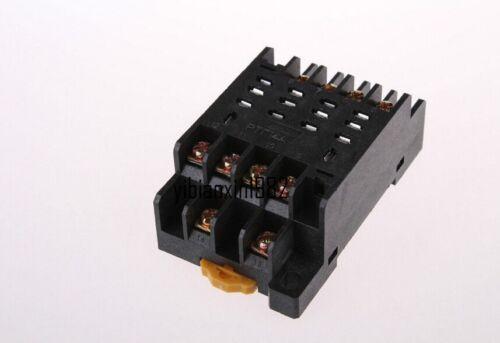 HH64P-L AC110V 10 A bobine 14-Pin 4PDT 4 Pole Electromagnetic Power Relay /& base
