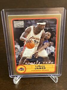 2003-Topps-Bazooka-Lebron-James-Gold-Parallel-Rookie-Cleveland-Cavaliers-SP-RC