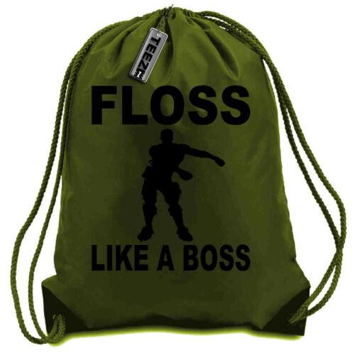 Floss Like A Boss Drawstring bag Gym bag,Swimming bag in Khaki