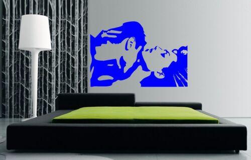 Decal-beaucoup de couleurs//tailles Dancing Couples Kiss cou Kissing Wall Art Autocollant