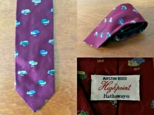 Austin Reed Highpoint Hathway Men S 100 Silk Vintage Car Design Tie 90 S Ebay