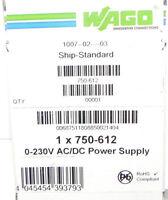 Wago 750-612 Bus Power Feed W/o Fuse 250v Power Supply 0-230v Ac/dc 750612