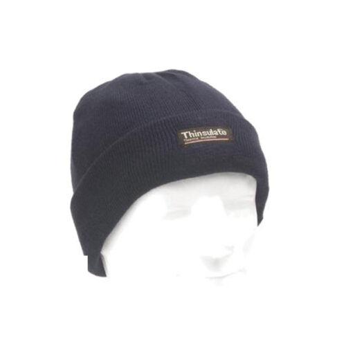 Rollmütze blau Mütze  Thinsulate Strickmütze Wintermütze Skimütze gefüttert