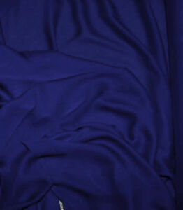 image is loading double georgette fabric royal blue semi sheer bty