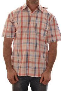 REGATTA-MENS-SAIL-BOARD-CASUAL-CHECK-SHIRT-RED-BLUE-MS165-B4