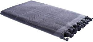 Pestemal Handtuch Hamam Frottiertuch 2in1 Strandtuch Duschtuch Towel, grau taupe