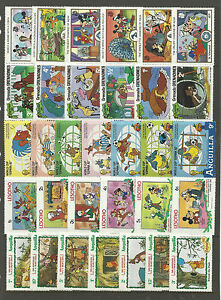 WALT-DISNEY-CARTOON-STAMPS-COLLECTION-PACKET-of-30-Different-Stamps-MNH-Lot-5