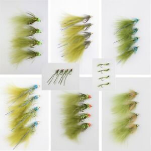 X4-Damsels-Assorted-Varieties-Lures-Gold-Heads-Nymphs-Trout-Fishing-Flies