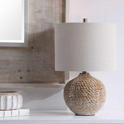 Lagos 22 Rustic Textured Ceramic Table Lamp Uttermost 28343 Ebay