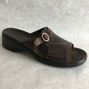Clarks-Sandals-Womens-Size-8-M-Brown-Open-Toe-71872-Shoes