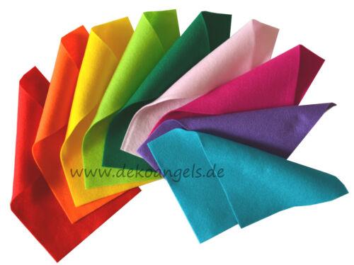 Bastelfilz Filzplatte 20 x 30 cm Filzpapier 2 mm Polyester Farbauswahl Filz
