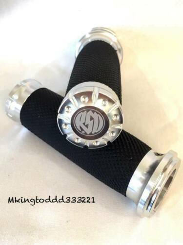 1 Pair Silver 1/'/' RSD Hand Grips For Harley Davidson Sportster Softail DYNA