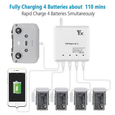 For DJI Mavic Air 4 in 1 Multi Smart Battery Charger Hub Batteries Charging HOT