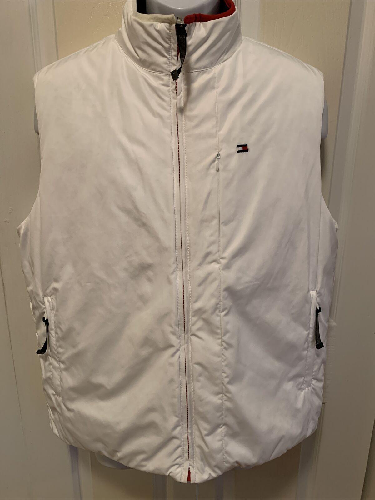 Tommy Hilfiger Mens Reversible Puffy Vest Blue/Wh… - image 3