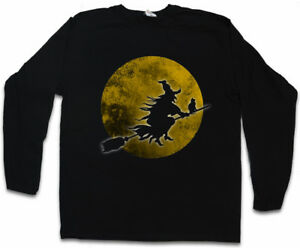 WITCH-MOON-LONG-SLEEVE-T-SHIRT-Walpurgis-Night-Halloween-Broom-Cat-Blocksberg