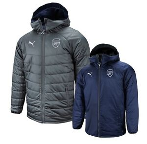 2813a0f82e19 Details about Puma Men Arsenal FC Reversible Bench Padded Jacket Winter Coat  Padded 75323806