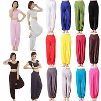 Womens Oversized Harem Long Pants Baggy Ali Baba Aladdin Trousers Yoga Leggings