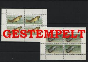 Germany-GDR-vintage-yearset-1987-Mi-3096-3097-Sheetlet-Postmarked-Used