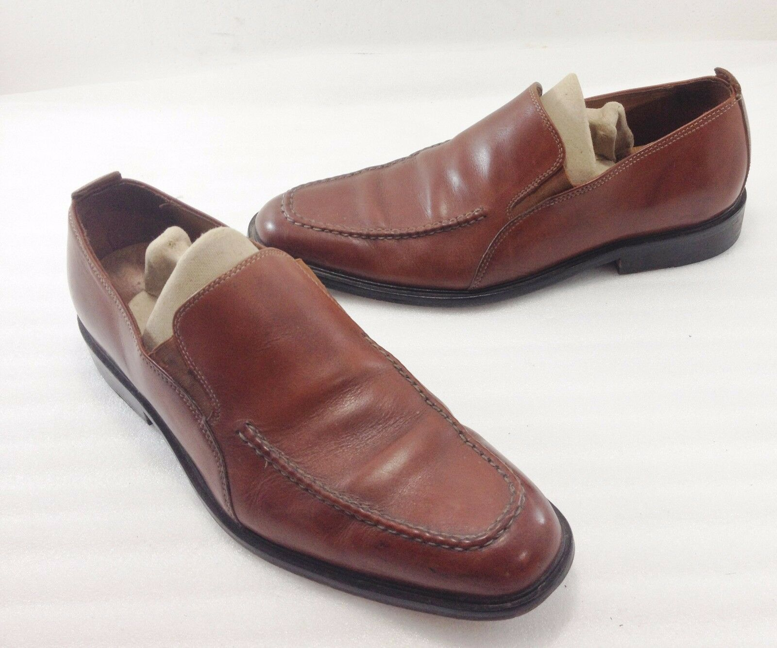 Cole Haan Mens 9 M Brown Leather Slip-On Loafers shoes