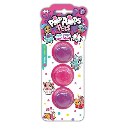 Pop Si Apre Animali 3 6 e 12 Peloso Slime Bolle Confezioni con Personaggi Yulu