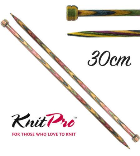 KnitPro Symfonie Wood Straight 30cm Length Single Point Knitting Needles
