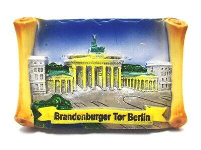 Berlin Magnet Poly Souvenir Germany Brandenburger Tor Wandrolle