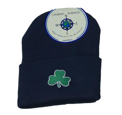 Irish Baby Knit Cap Super Soft Cotton Blend Newborn Irish Symbols