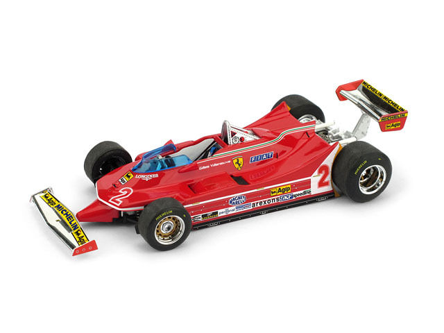 Ferrari 312 T5 G.Villeneuve  GP Brazil  1980 (Brumm 1 43   R575)
