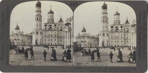 Kremlin-Cathedrale-Archange-Michael-Moscou-Russie-Photo-Stereo-Vintage