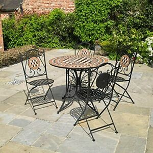 Remarkable Details About 4 Seater Outdoor Patio Set Mosaic Design Garden Folding Table Chairs Wido Evergreenethics Interior Chair Design Evergreenethicsorg