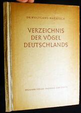 1957 ORNITHOLOGY SIGNED DR WOLFGANG MAKATSCH VOGEL DEUTSCHLAND GERMANY