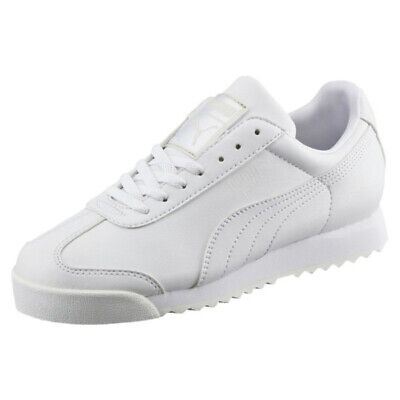 Puma Roma Basic 353572 21 White Light Gray Insole Mens Shoes Sneakers All  Sizes | eBay